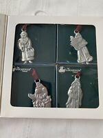 Longaberger Commemorative Santa Collection Pewter Christmas Ornaments(1990-1993)
