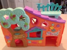 """2007 Littlest Pet Shop Club Tree House Playset Only -13"""" (As is)"""