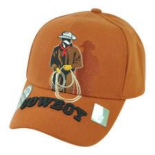 Cowboy Rodeo Lasso Rope Ranch Horse Country Adjustable  Hat Cap Orange