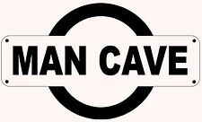 MAN CAVE TRAIN STATION REPLICA SIGN - FATHERS DAY GIFT BIRTHDAY ITALIAN