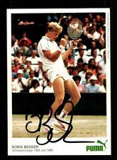 Boris Becker Autogrammkarte  Tennis