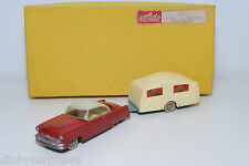 SOLIDO COFFRET GIFT SET JUNIOR 2 CAR WITH CARAVAN VOITURE CARAVANNE N MINT BOXED