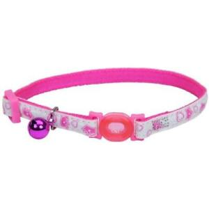 Safe Cat® Adjustable Snag-Proof Nylon Breakaway Collar, Glowing Pink