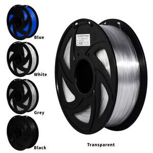3D printer 1.75mm PETG Filament 1KG  2.2lb Black White Blue Roll Colorful PLA