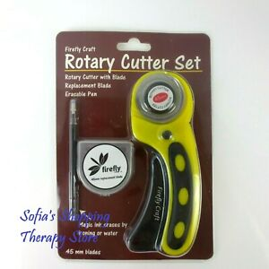 Rotary Cutter w Extra 45mm Blade Sewing Quilters Fabric Leather Cutting Tool Set