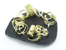 New 12 Piece Mega Mix Gold Midi Ring Set by Free People with $38 Tags #R1239