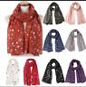Elegant Women Christmas Snow Printed Scarf Wrap Silk Shawl Travel Scarves Stole
