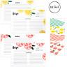 Outshine 4x6 Lemon Orange Recipe Cards Bulk Set for Recipe Box | 104 Pack