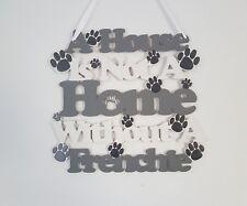 French Bulldog Wooden Hanging Wall Sign - handmade, French Bulldog gifts