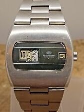 Vintage Automatic Bucherer Direct read jump hour digital date watch 25 jewel