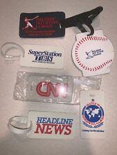 Lot Of 6 Baseball Luggage Tag, CNN, Headline News
