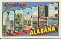 Greetings from Mobile Alabama Large Letter Postcard