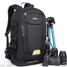 Waterproof DSLR SLR Camera Backpack Black Backpacking Bag Case Oxford Material