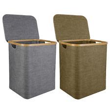 Collapsible Laundry Basket Linen Hamper Storage Bin Home Organizer w/ Handle Lid