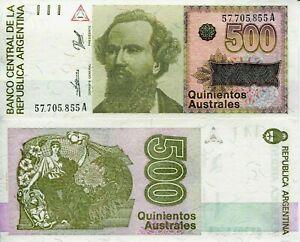 ARGENTINA 500 AUSTRALES 1985 P328 UNC