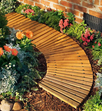 New listing 4'L Roll-Out Curved Hardwood Pathway