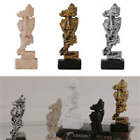 Abstract Sculpture Statue Resin Figurine Silence Is Gold Home Office Study Decor