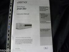 Jamo DVD-593  Owner's manual   User's Manual