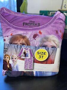 NWT Disney Frozen 2 Girls Anna & Elsa 2pc Sleepwear Sz 3T