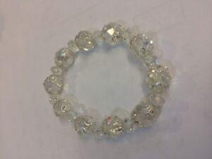 Clear glass Stretch Bracelet Brand New XMAS PRESENT WOMANS/GIRLS