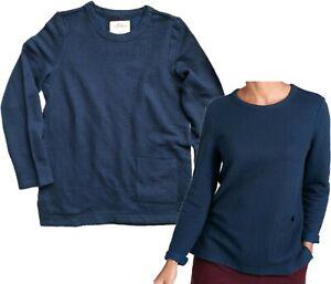 Womens SEASALT Fistral Beach Sweatshirt Top Jumper in Juxtapose Dark Night 8-26