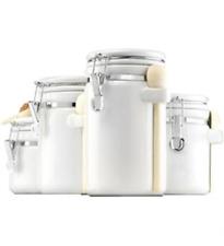 New Anchor Hocking 03806WMR Canister Set White Ceramic 4pc