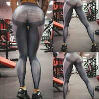 Women High Waist Mesh Yoga Pants Fitness Leggings Running Gym Sports Trousers