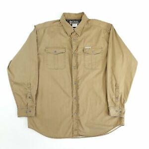 Vintage Columbia Shirt Beige XL Long Sleeve