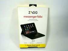 Zagg Messenger Folio Non Backlit Tablet Keyboard Case for Apple iPad Mini 4