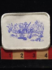 Vtg. Hat/Jacket Patch ~ Sitting Duck Boat Hunters Hunting Ducks With Guns 62E3