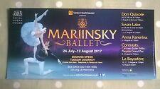Mariinsky Ballet Flyer 2017. Royal Opera House. + 4 Cast Lists.