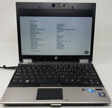 HP EliteBook 2540P Windows 7 Intel Core i7 L640 2GB DDR3 for parts repair AS IS