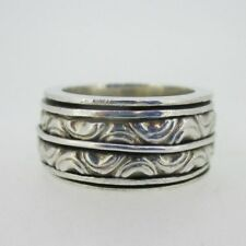 Gale Spinner Ring Size 8 Sterling Silver Geo Art Cynthia
