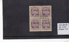 Used Icelandic Stamp Blocks