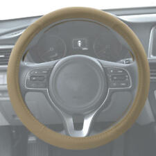 ACDelco Soft Premium Synthetic Leather Car Steering Wheel Cover - Beige
