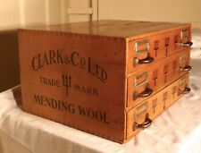 Clark and Co. Ltd. Haberdashery Advertising Cabinet of drawers