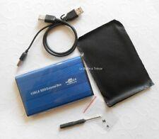 "1 Boitier Disque Dur Bleu IDE 2.5""  DD USB USB2 Léger Portable en Alum Externe"