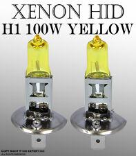 JDM H1 100W pair High Low Beam or Fog Light Xenon HID Golden Yellow Bulbs OV346
