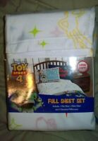 Disney Toy Story 4 4pc Full Sheet Set With Buzz Lightyear And Woody Brand New.