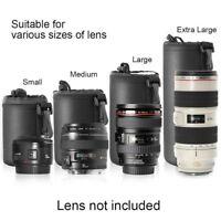 Neoprene New Soft DSLR Camera Lens Pouch Bag Protector Case For Canon Nikon Sony