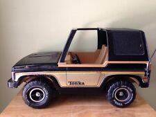 Vintage Tonka Barbie Jeep Black Metal with Plastic Roof