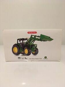 John Deere 7430 avec chargeur - Wiking 1:32 - Miniature agricole 1/32