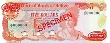 Belize  $5  1.1.1989  P 47bs  Series J/5  Specimen  019  Uncirculated Banknote