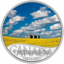 2017 Celebrating Canada's 150th #5 Canola Fields Manitoba $10 Pure Silver Proof