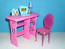 %***Barbie Möbel*Schreibtisch*Stuhl*Lampe*Laptop*Bilder*Handy***%