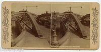 HARLEM BRIDGE with DRAW OPEN, NEW YORK, Vintage  Stereoview Photo