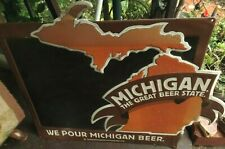 Man Cave: Sign of Michigan The Great Beer State