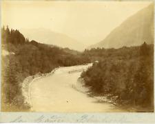 Suisse, La Kander, ca.1900, vintage citrate print Vintage citrate print, mounted