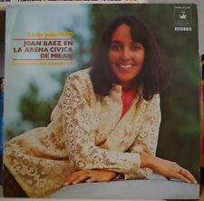 JOAN BAEZ EN LA ARENA CIVICA DE MILAN VANGUARD SPAIN PRESS LP HISPAVOX 1973