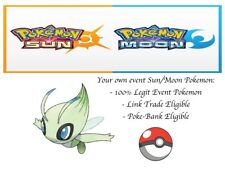 Pokemon Sun and Moon ORAS 20th Anniversary Event Pokemon Celebi w/ PP Max